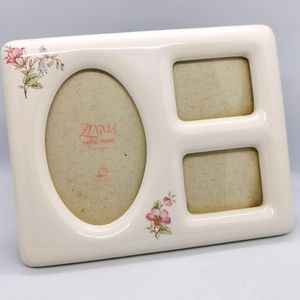 Vintage Photo Frame white glass floral dainty cute babydoll classic Romantic